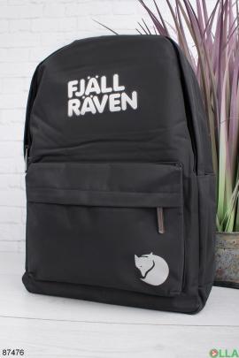 Женский черный рюкзак с надписью