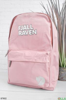 Женский розовый рюкзак с надписью