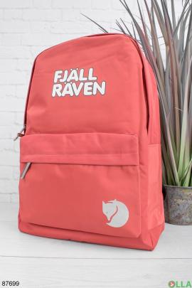 Женский красный рюкзак с надписью