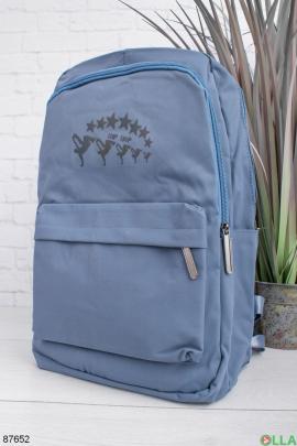 Женский синий рюкзак