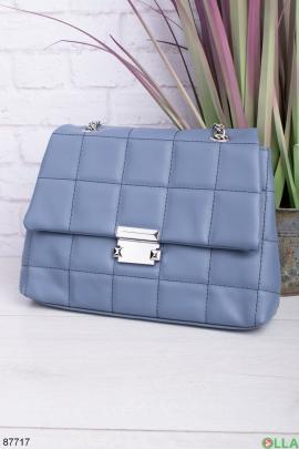Женская синяя сумка на цепочке