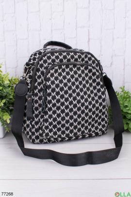 Женский черно-белый рюкзак в принт