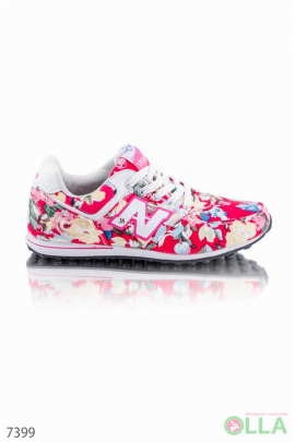 Кроссовки NB с цветочным принтом