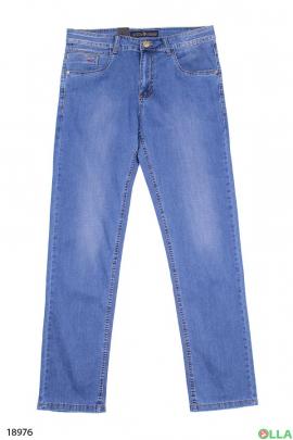 Мужские джинсы светло-синего цвета