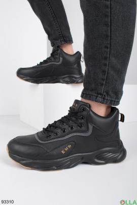 Мужские зимние черные кроссовки