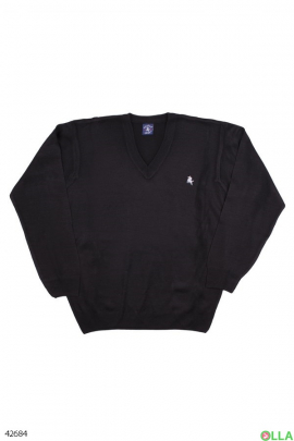 Мужской черный свитер