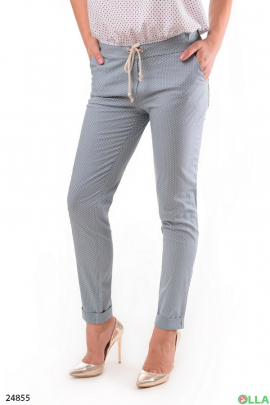 Женские брюки с манжетами