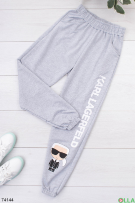 Женские спортивные брюки с принтом