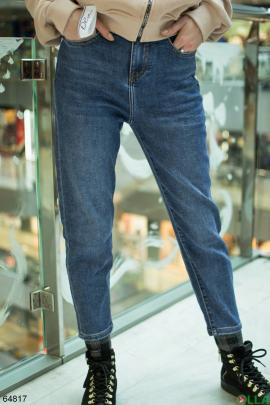 Женские синие  джинсы