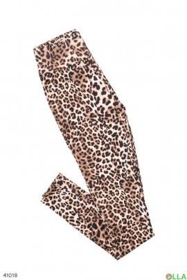 Женские лосины в тигровый принт