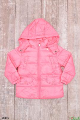 Куртка розового цвета с карманами