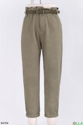 Женские джинсы с ремнем