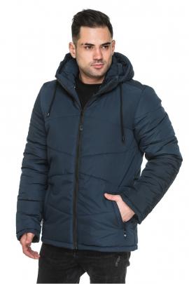 Мужская удлиненная куртка со съёмным капюшоном