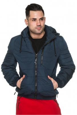 Мужская короткая куртка со съёмным капюшоном