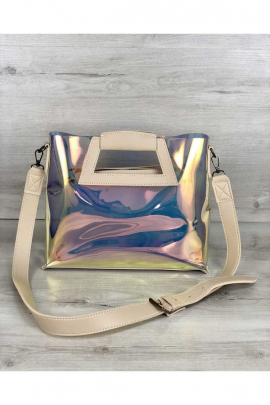 Перламутровая силиконовая сумка