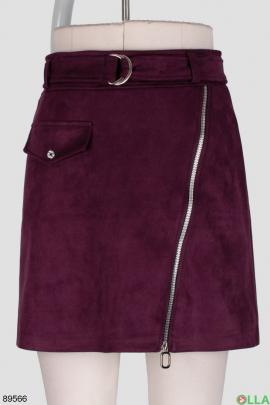 Женская фиолетовая юбка