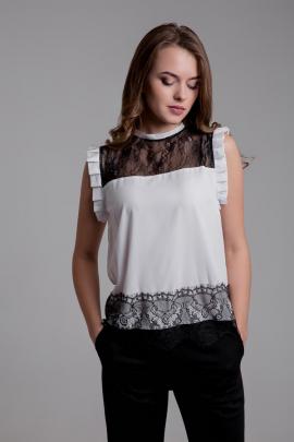 Женская чёрно-белая блузка