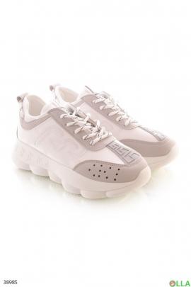 Женские бело-серые кроссовки