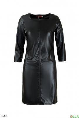 Женское платье из эко кожи