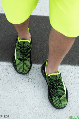 Мужские двухцветные кроссовки на шнуровке