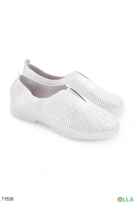 Женские серебристые туфли из эко-кожи