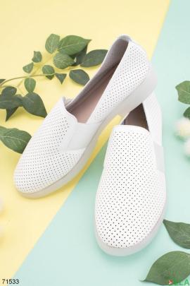Женские белые туфли из эко-кожи