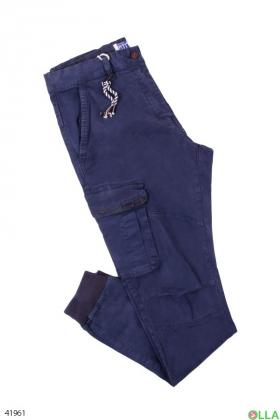 Мужские брюки с накладными карманами