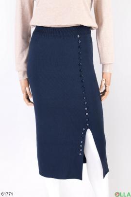 Женская трикотажная юбка с разрезом