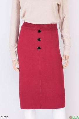 Женская трикотажная красная юбка