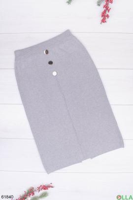 Женская трикотажная серая юбка