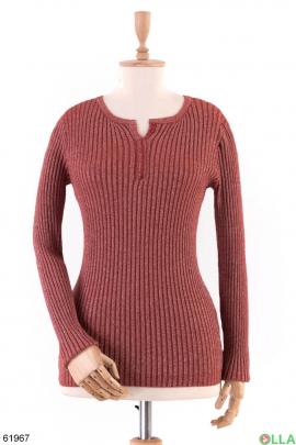 Женский Бордовый свитер
