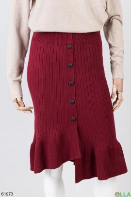 Женская расклешенная трикотажная юбка