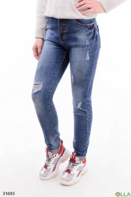 Женские джинсы с пуговицами
