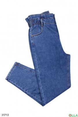 Женские джинсы с поясом на резинке