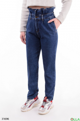 Женские джинсы с оборкой