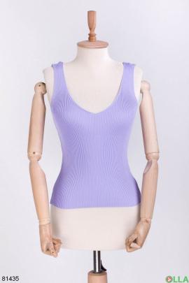 Женский фиолетовый топ