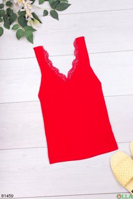 Женский красный топ