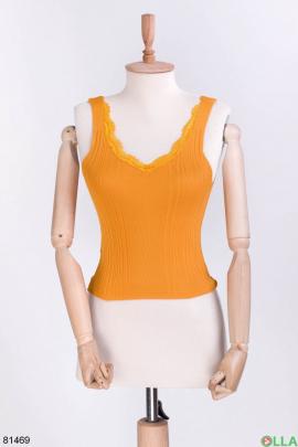 Женский оранжевый топ