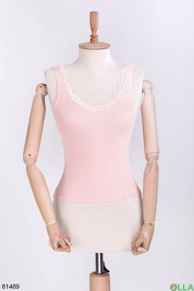 Женский светло-розовый топ