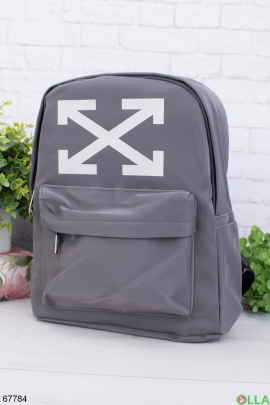 Женский рюкзак с принтом