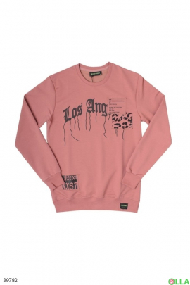 Мужской Розовый свитшот