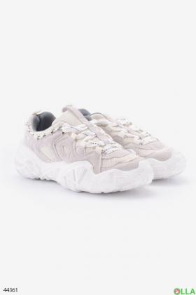 Женские кроссовки белого цвета - 00-00176247