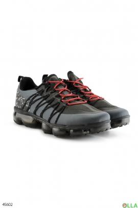 Черно-серые мужские кроссовки