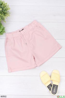 Женские розовые джинсовые шорты