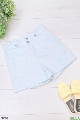Женские голубые шорты