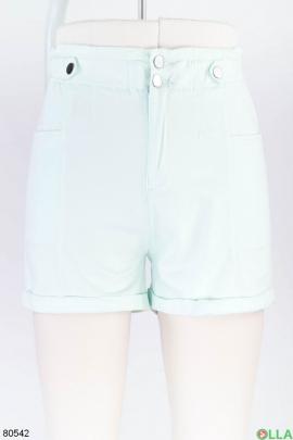 Женские светло-бирюзовые шорты