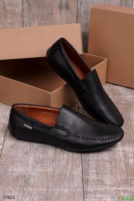 Удобные мужские туфли черного цвета