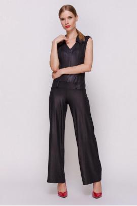 Женский комбинезон брюками чёрного цвета