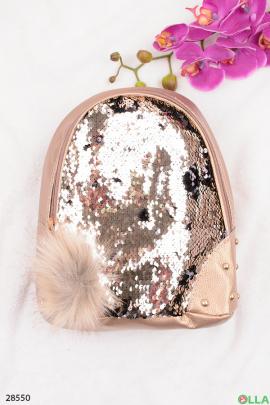 Золотистый рюкзак с пайетками