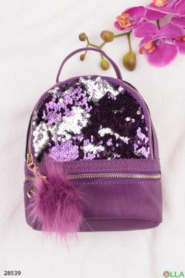 Рюкзак с пайетками и помпоном